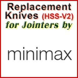 Replacement Blades (HSS) for Jointers by MiniMax