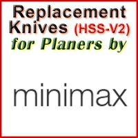 Replacement HSS-V2 Knives for Planers by MiniMax
