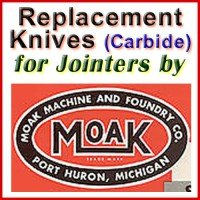 Replacement Carbide Knives for Jointers by Moak