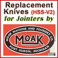 Replacement HSS-V2 Knives for Jointers by Moak