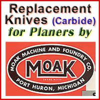 Replacement Carbide Knives for Planers by Moak