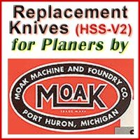 Replacement HSS-V2 Knives for Planers by Moak
