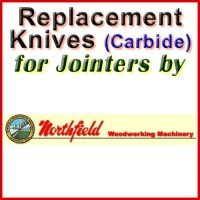 Replacement Carbide Knives for Jointers by Northfield