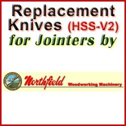 Replacement HSS-V2 Knives for Jointers by Northfield