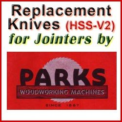 Replacement Blades (HSS) for Jointers by Parks