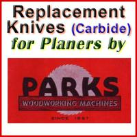 Replacement Carbide Knives for Planers by Parks