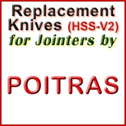 Replacement Blades (HSS) for Jointers by Poitras