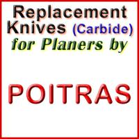 Replacement Blades (Carbide) for Planers by Poitras