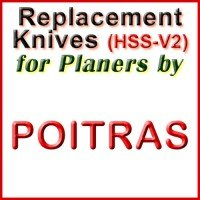 Replacement Blades (HSS) for Planers by Poitras