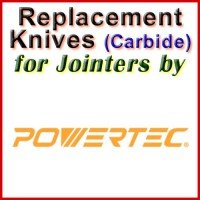 Replacement Carbide Knives for Jointers by Powertec