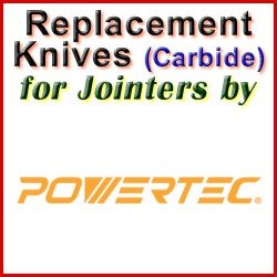 Replacement Blades (Carbide) for Jointers by Powertec