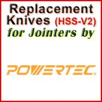 Replacement Blades (HSS) for Jointers by Powertec