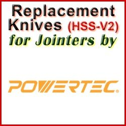 Replacement HSS-V2 Knives for Jointers by Powertec