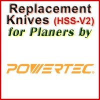 Replacement HSS-V2 Knives for Planers by Powertec