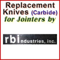 Replacement Carbide Knives for Jointers by RBI