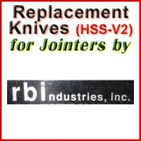 Replacement HSS-V2 Knives for Jointers by RBI