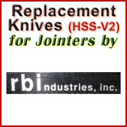 Replacement Blades (HSS) for Jointers by RBI