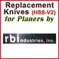 Replacement HSS-V2 Knives for Planers by RBI
