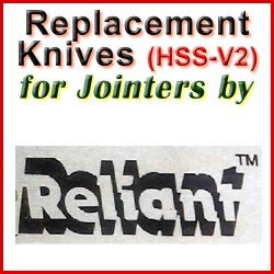 Replacement Blades (HSS) for Jointers by Reliant