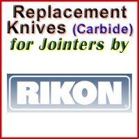 Replacement Carbide Knives for Jointers by Rikon