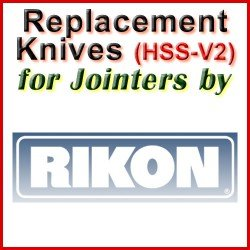 Replacement HSS-V2 Knives for Jointers by Rikon