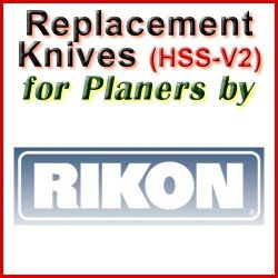 Replacement HSS-V2 Knives for Planers by Rikon