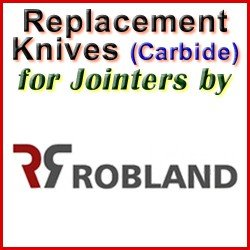 Replacement Blades (Carbide) for Jointers by Robland