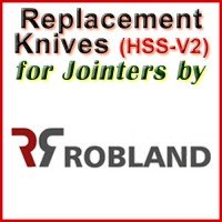 Replacement HSS-V2 Knives for Jointers by Robland