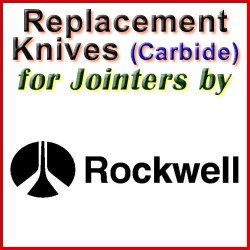 Replacement Blades (Carbide) for Jointers by Rockwell