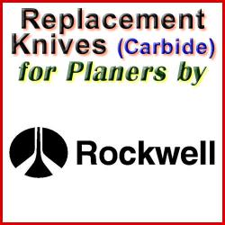 Replacement Blades (Carbide) for Planers by Rockwell
