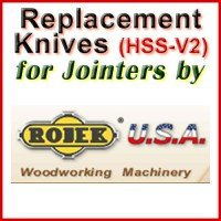 Replacement HSS-V2 Knives for Jointers by Rojek
