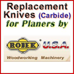 Replacement Blades (Carbide) for Planers by Rojek
