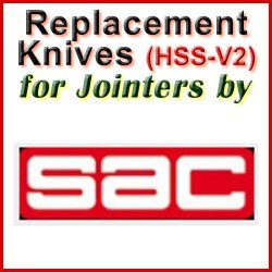 Replacement HSS-V2 Knives for Jointers by SAC
