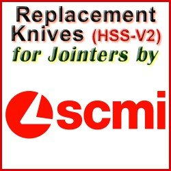Replacement Blades (HSS) for Jointers by SCMI