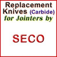 Replacement Carbide Knives for Jointers by Seco