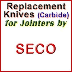 Replacement Blades (Carbide) for Jointers by Seco