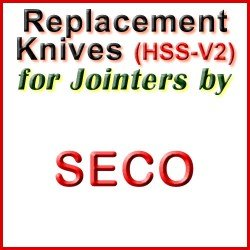 Replacement HSS-V2 Knives for Jointers by Seco
