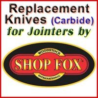 Replacement Carbide Knives for Jointers by Shop Fox