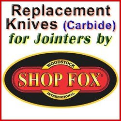Replacement Blades (Carbide) for Jointers by Shop Fox