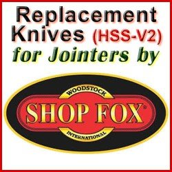 Replacement HSS-V2 Knives for Jointers by Shop Fox