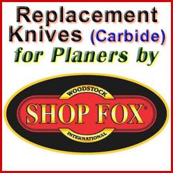 Replacement Blades (Carbide) for Planers by Shop Fox