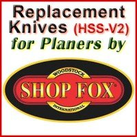 Replacement Blades (HSS) for Planers by Shop Fox