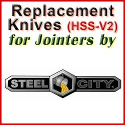 Replacement HSS-V2 Knives for Jointers by Steel City