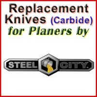 Replacement Carbide Knives for Planers by Steel City