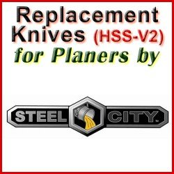 Replacement HSS-V2 Knives for Planers by Steel City