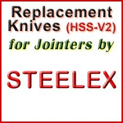 Replacement HSS-V2 Knives for Jointers by Steelex