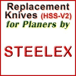 Replacement HSS-V2 Knives for Planers by Steelex