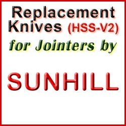 Replacement Blades (HSS) for Jointers by Sunhill