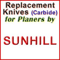 Replacement Carbide Knives for Planers by Sunhill