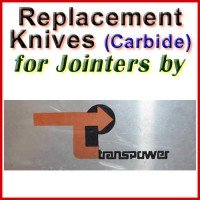 Replacement Carbide Knives for Jointers by Transpower